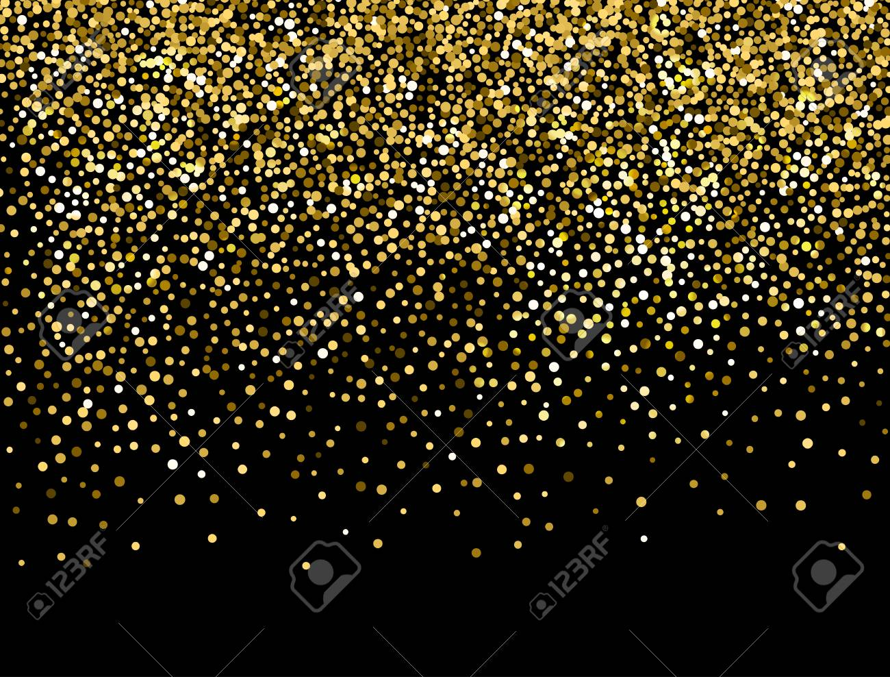 Gold Sparkles On Black Background. Gold Glitter Background. Royalty Free  Cliparts, Vectors, And Stock Illustration. Image 110549545.