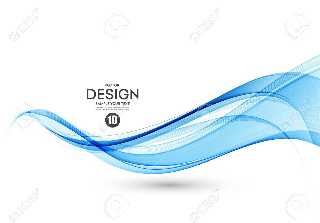 Abstract vector background, color flow waved lines for brochure, website, flyer design. Transparent smooth wave - 123533978