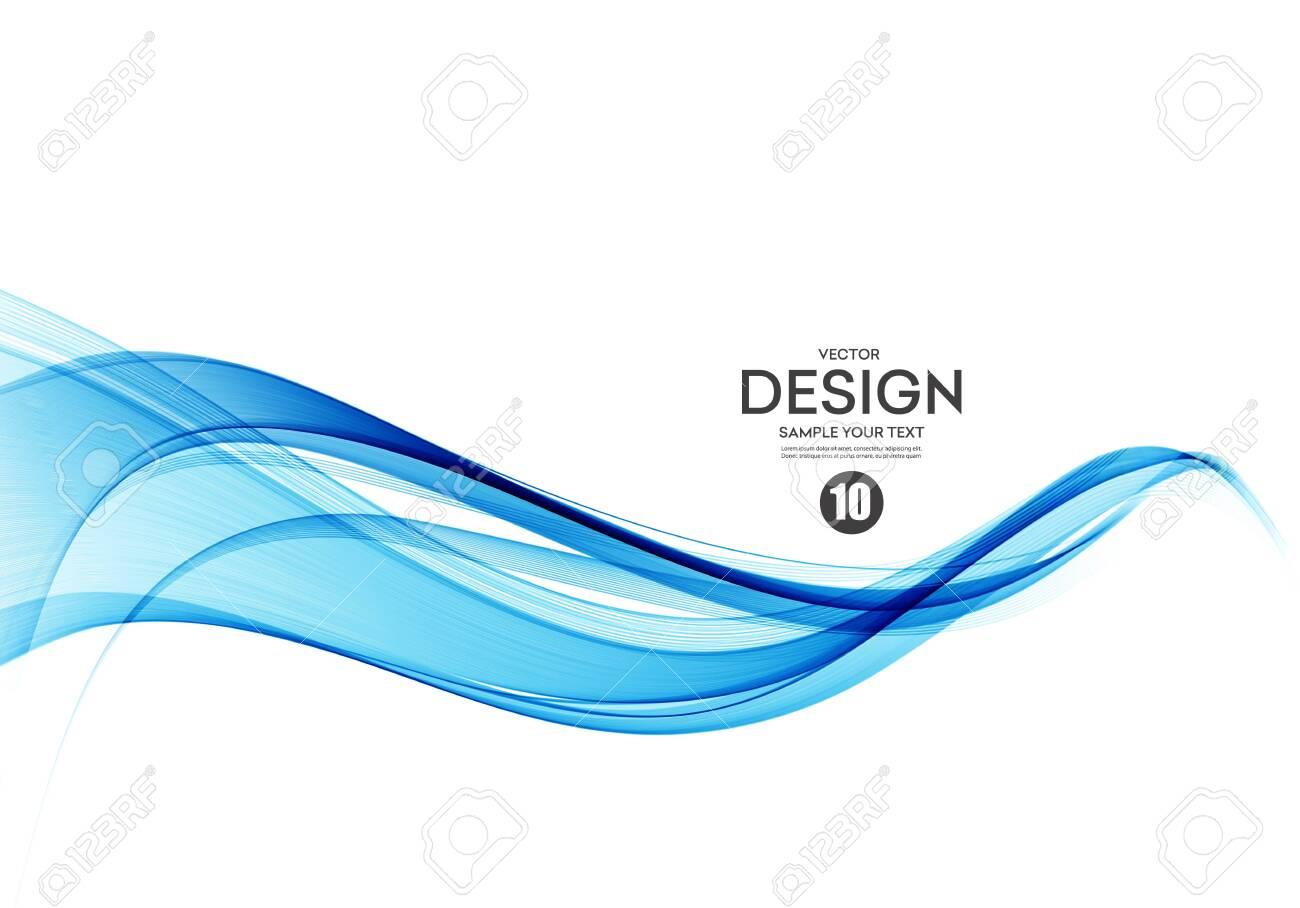 Abstract vector background, color flow waved lines for brochure, website, flyer design. Transparent smooth wave - 123533979