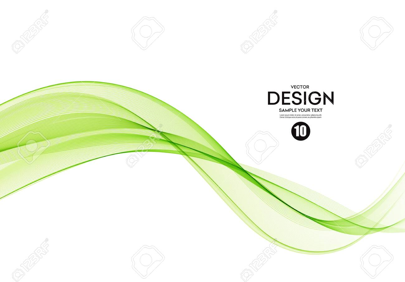 Abstract colorful vector background, color wave for design brochure, website, flyer. - 131089281