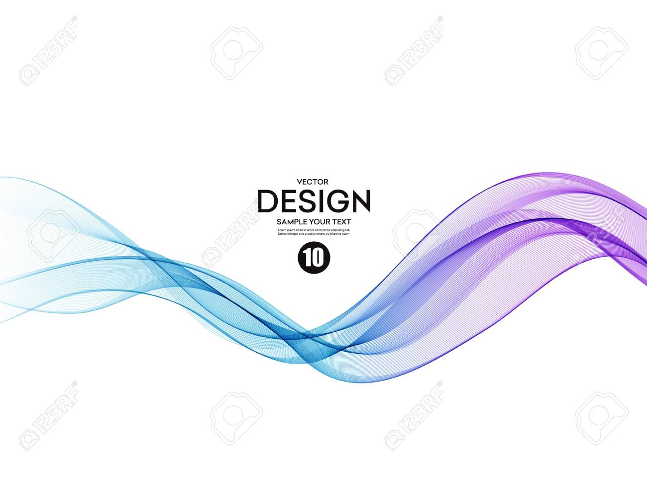 Abstract vector background, color flow waved lines for brochure, website, flyer design. Transparent smooth wave - 131088342