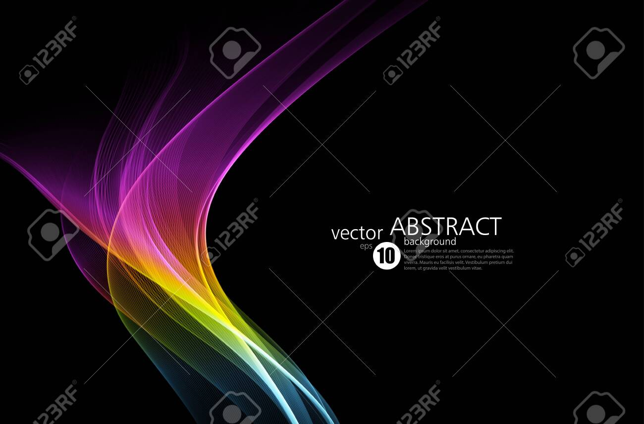 Abstract shiny color spectrum wave design element - 149989950
