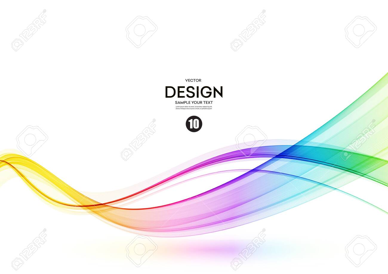 Abstract shiny color spectrum wave design element - 149989965