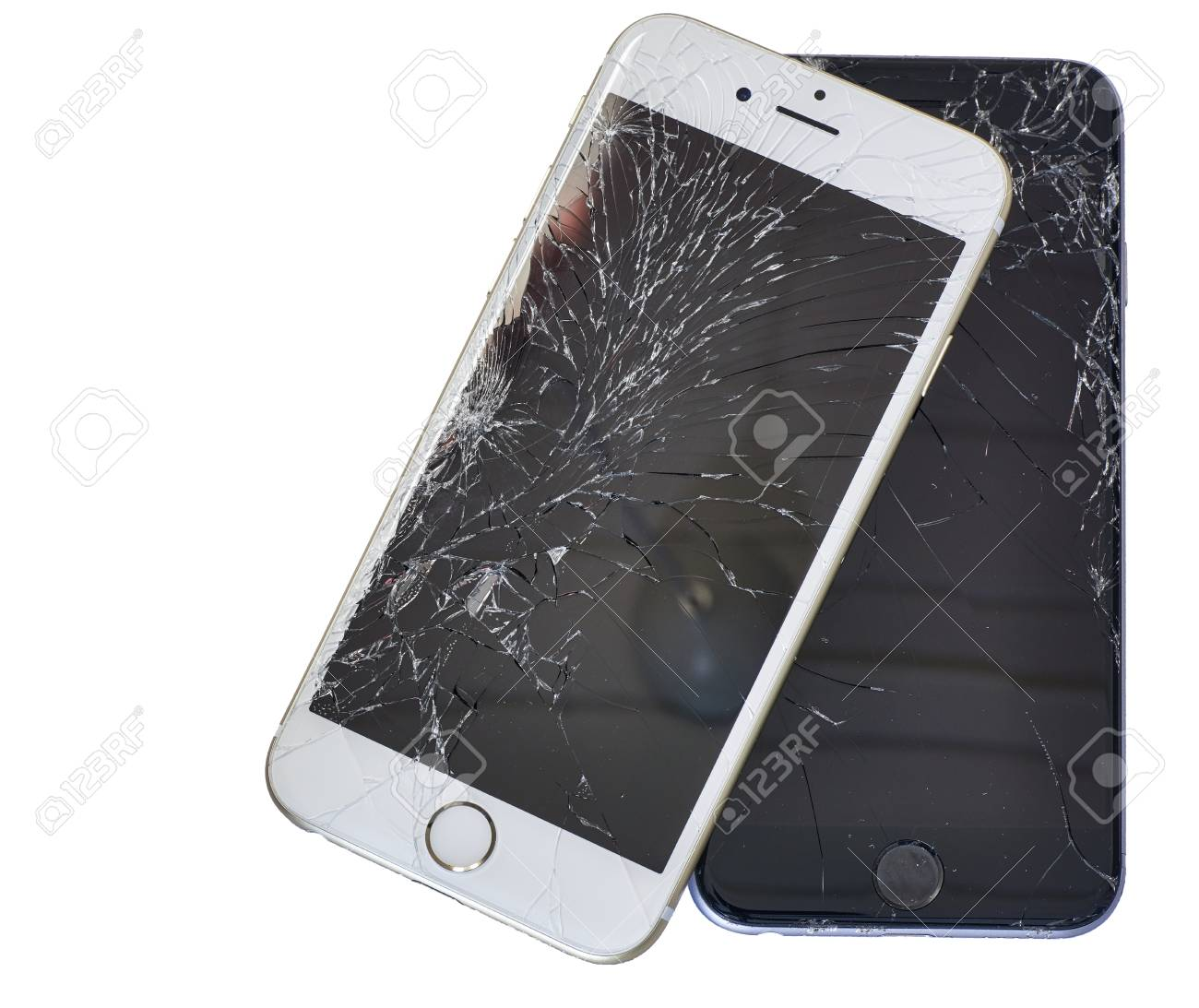 cheap for discount fcd3b 2c854 Trondheim, Norway - December 26 2015: Two iPhone 6 With Cracked..