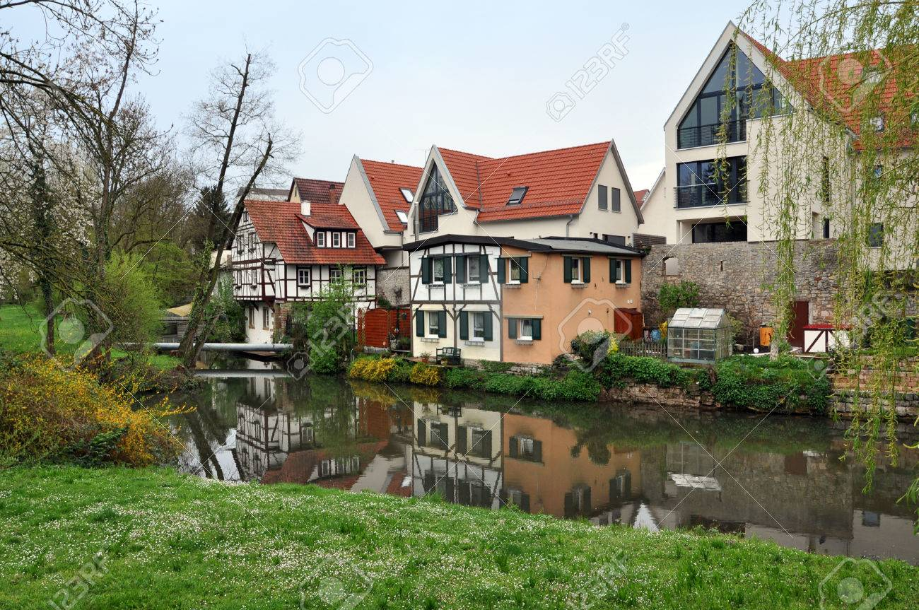 Bad Waiblingen waiblingen germany april 16 2016 modern residential half