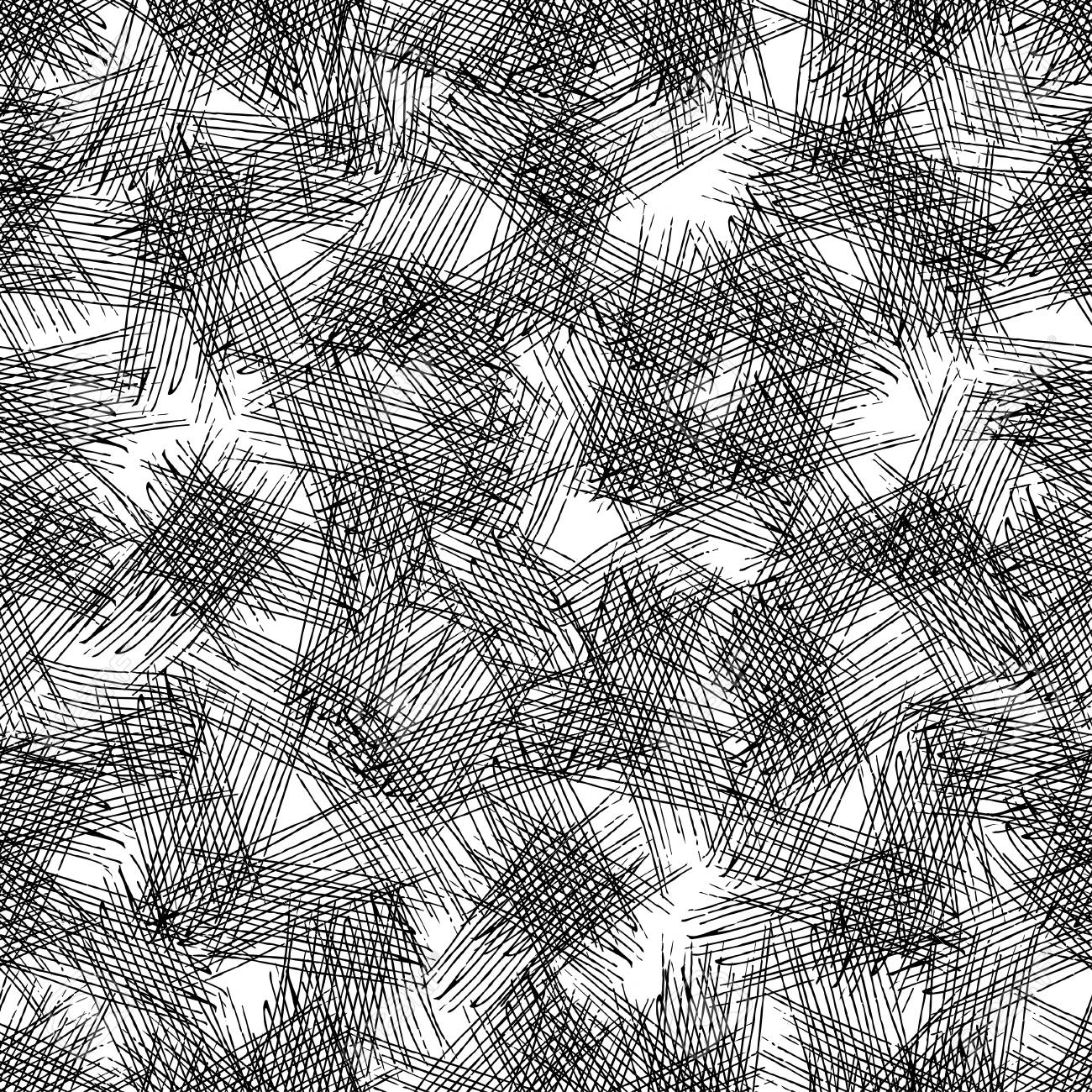 Vector seamless grunge texture of the intersecting lines. - 114272635