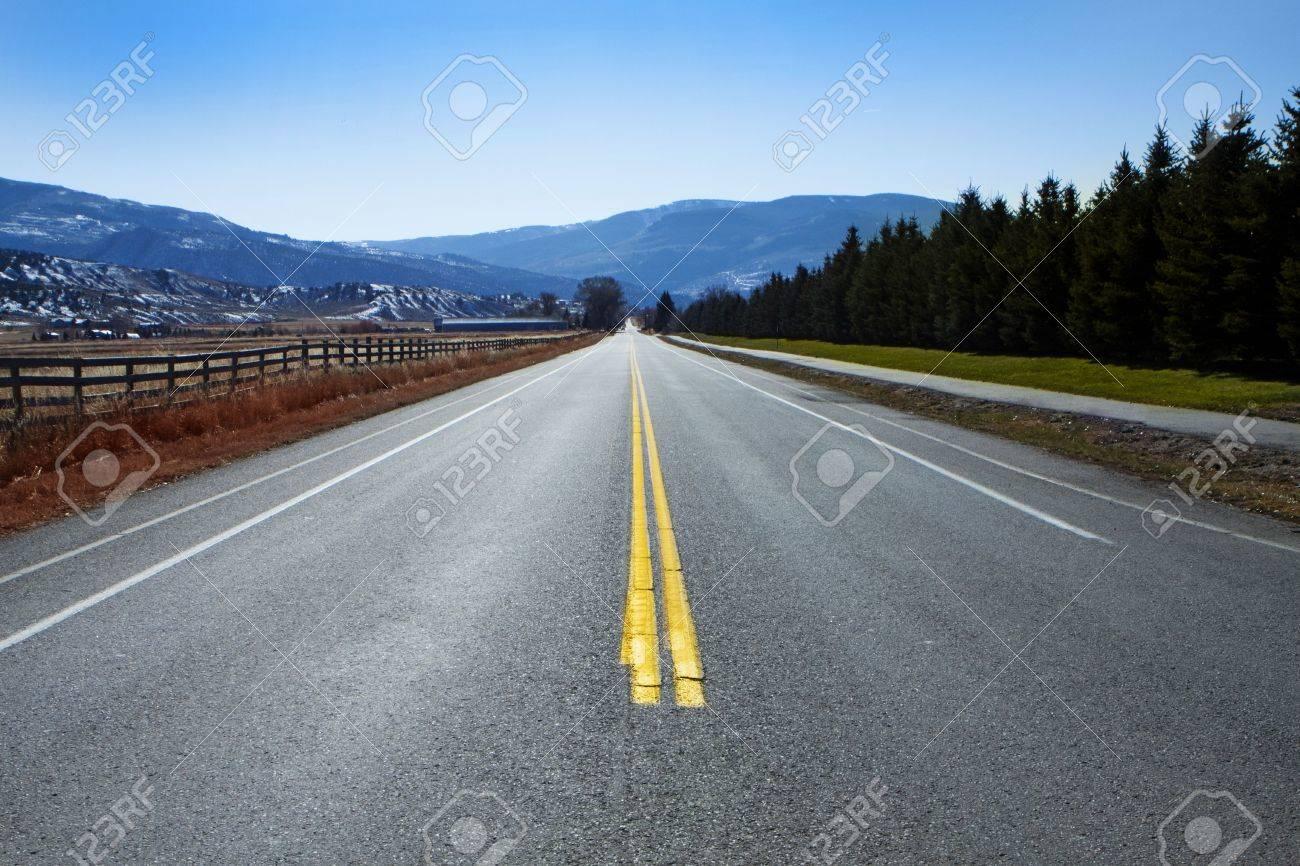 Winding Mountain Road in Colorado Stock Photo - 6412002