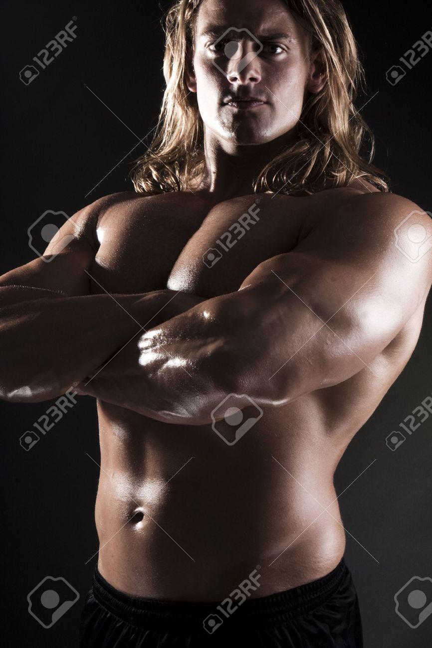 Blonde muscle men