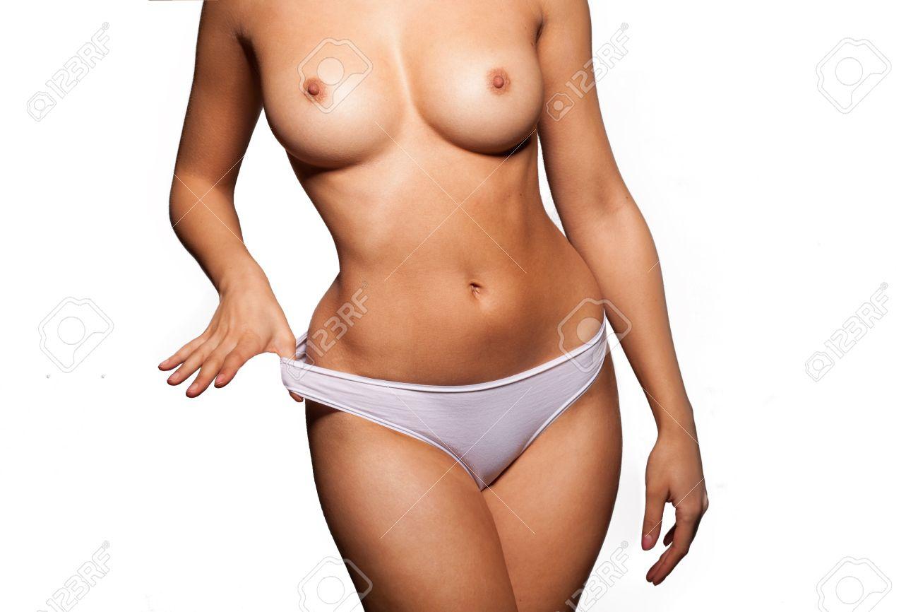 Skinny nude selfie