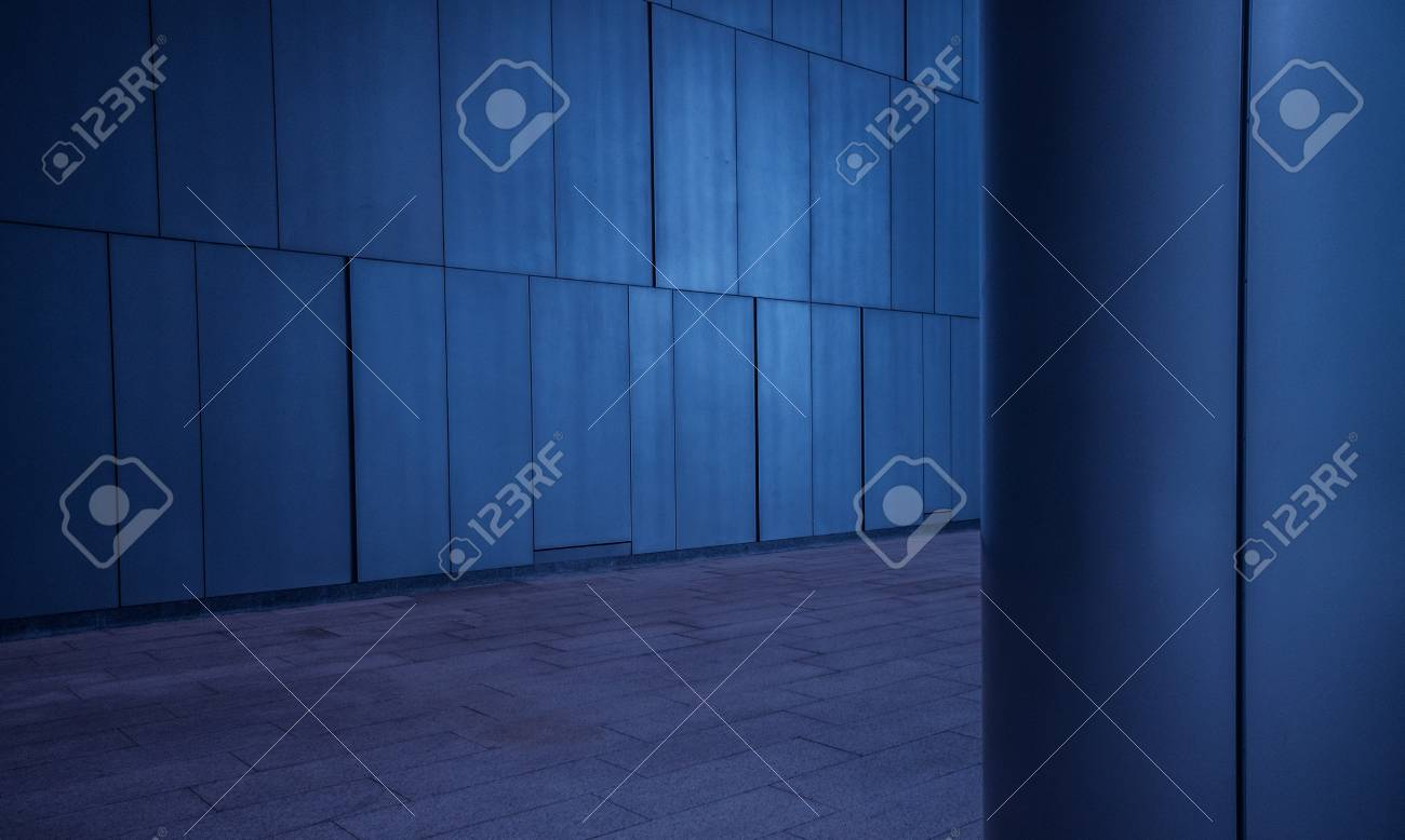 Brushed Metal Tiled Panels Wall And Column/pillar Background.. Stock ...