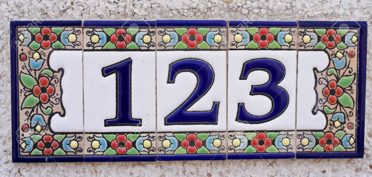 Ceramic tile house address numbers images tile flooring design ideas house number spanish style made up from ceramic tiles stock photo house number spanish style made dailygadgetfo Gallery
