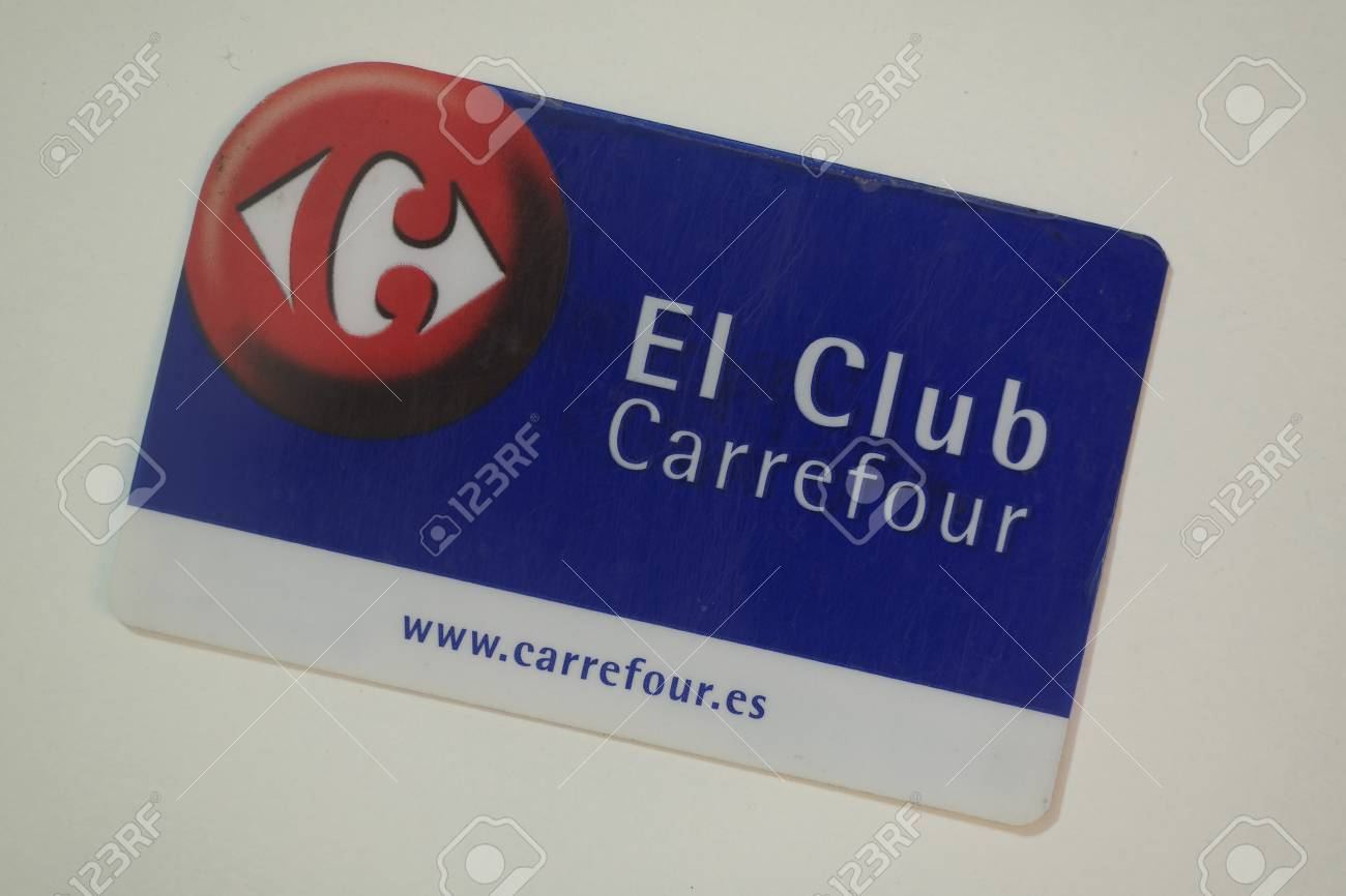 Carrefour Card On White Stock Photo Picture And Royalty Free Image