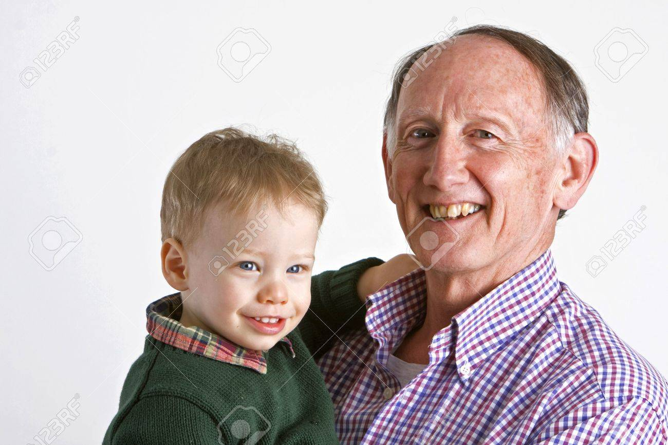 Proud grandfather with grandson Stock Photo - 3124466