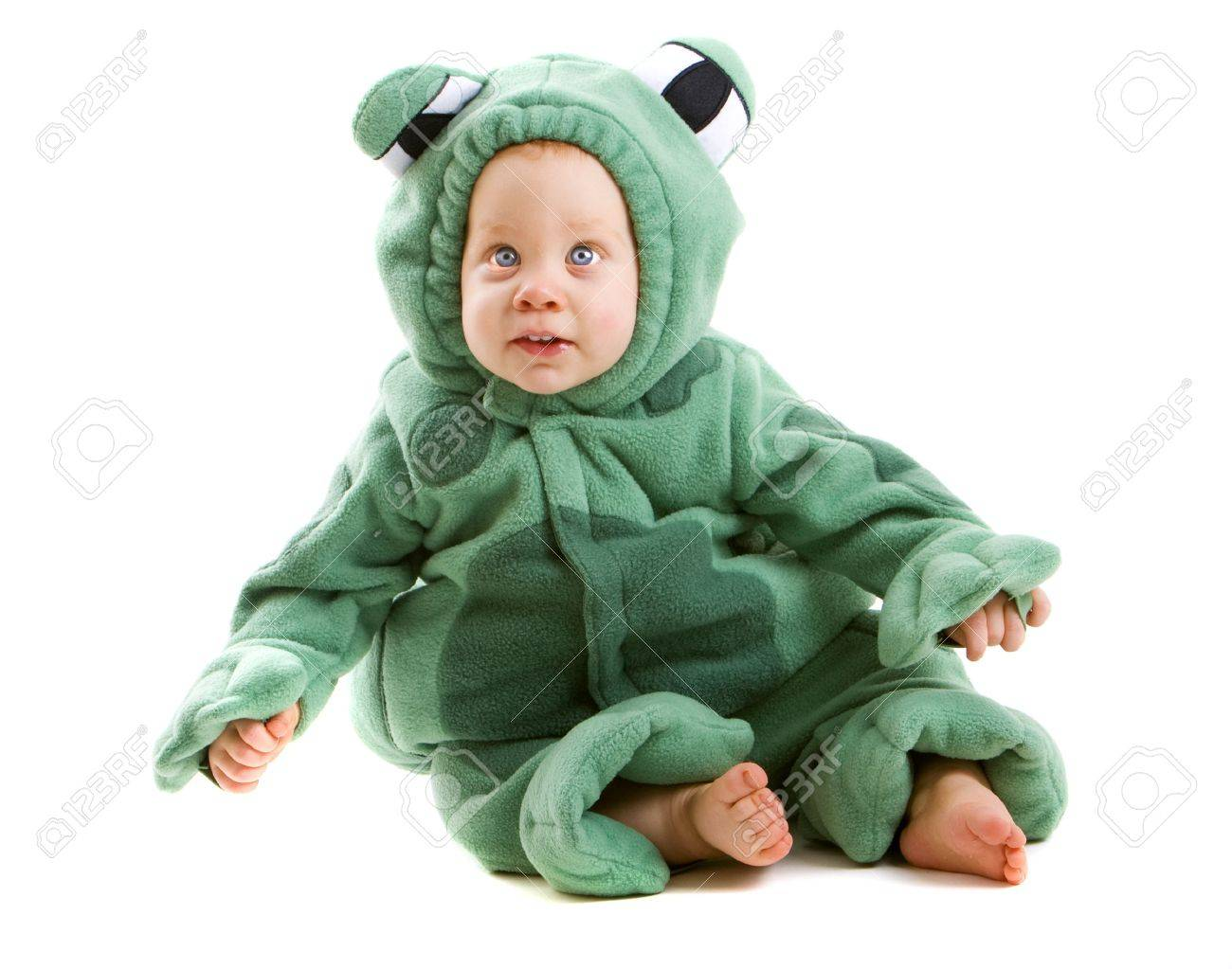 Young baby boy dressed in halloween party costume isolated on white background Stock Photo - 3671456