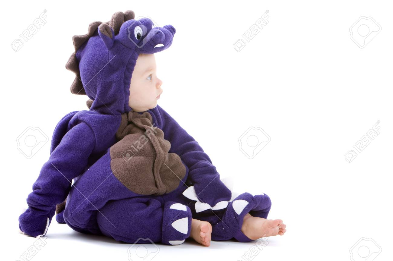Young baby boy dressed in halloween party costume isolated on white background Stock Photo - 3671484