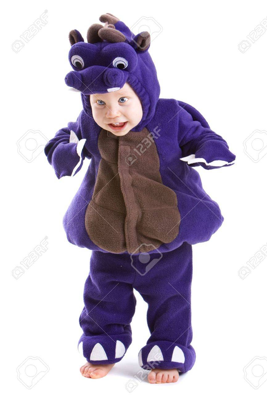 Young baby boy dressed in halloween party costume isolated on white background Stock Photo - 3671483