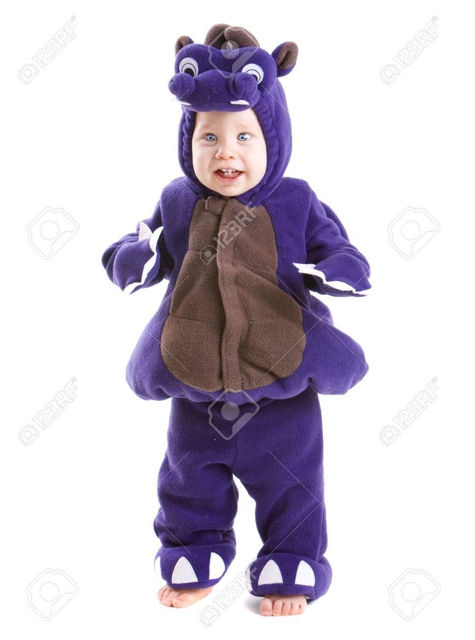 Jóvenes Niño Vestido Con Traje De Halloween Parte Aisladas Sobre ...