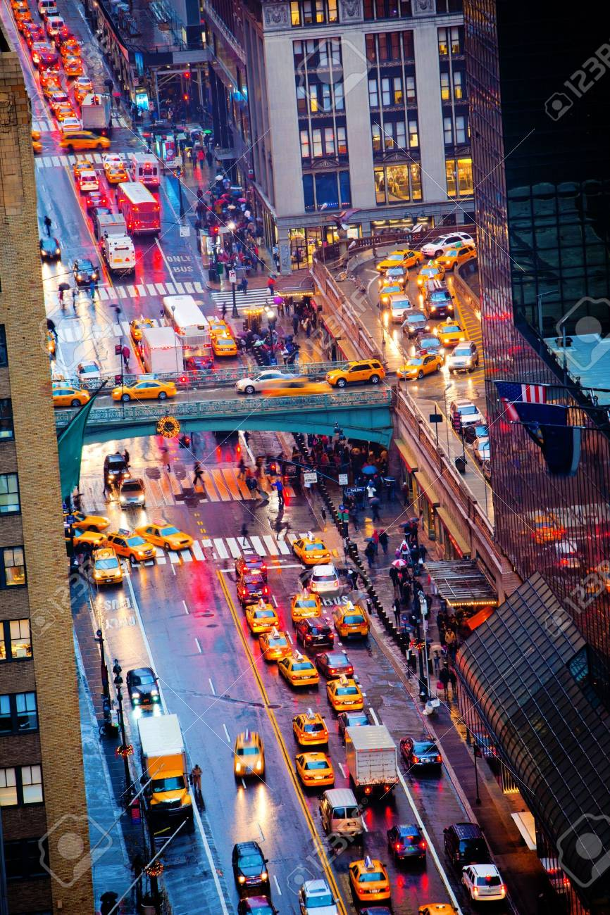 Rush hour on 42nd Street in New York City Stock Photo - 12426163