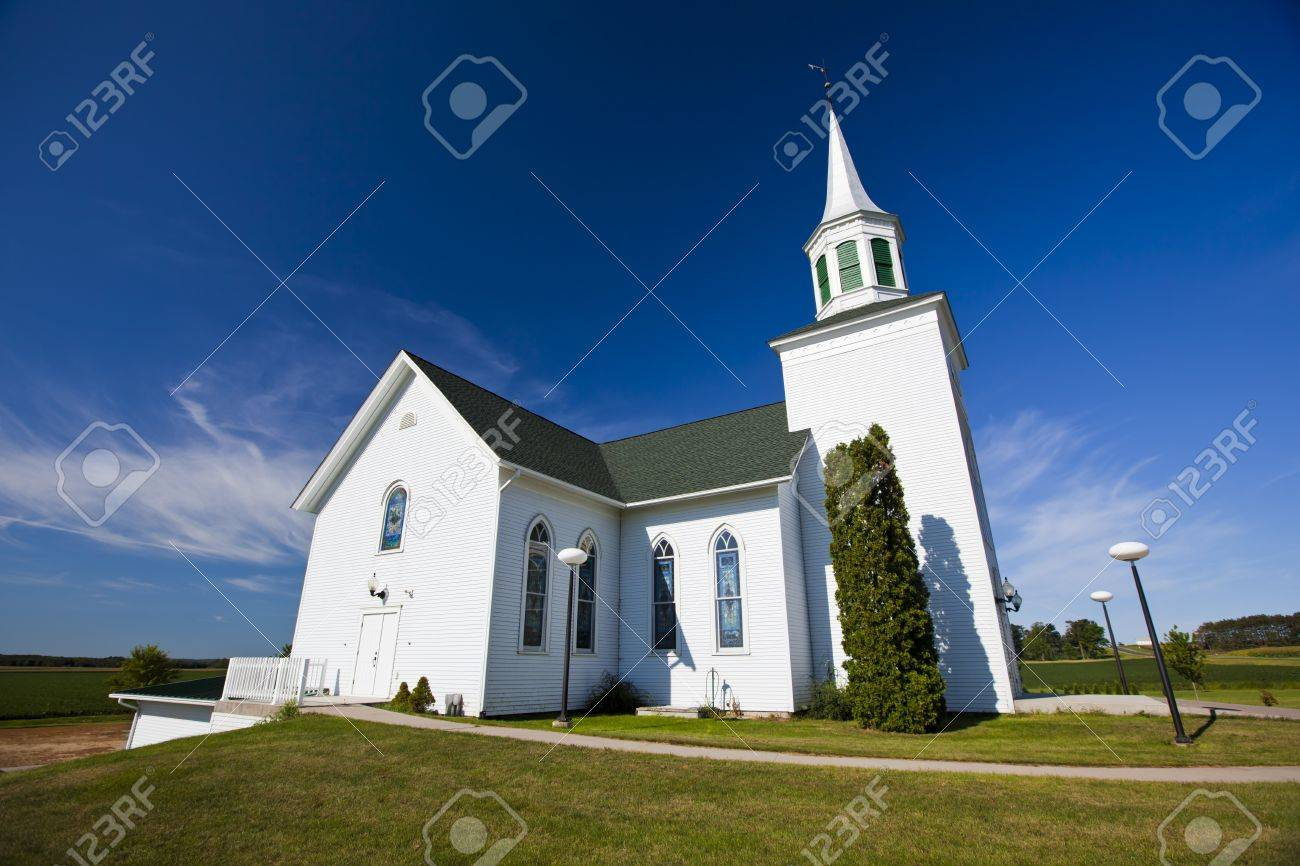Traditional american white church in the countryside stock photo traditional american white church in the countryside stock photo 15803168 sciox Choice Image