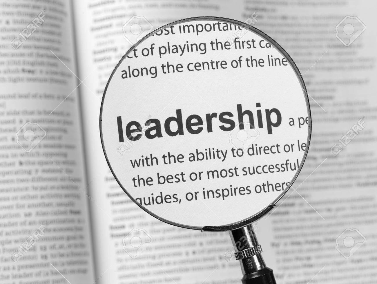 Dictionary highlighting Leadership - 36126201