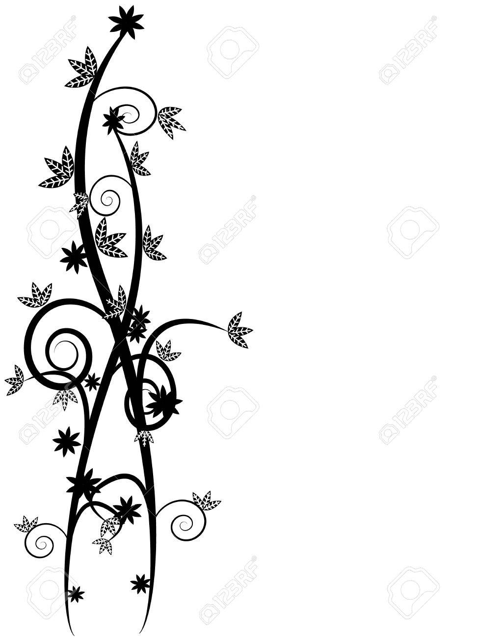 Floral vines background with space to insert your own text Stock Vector - 4534734