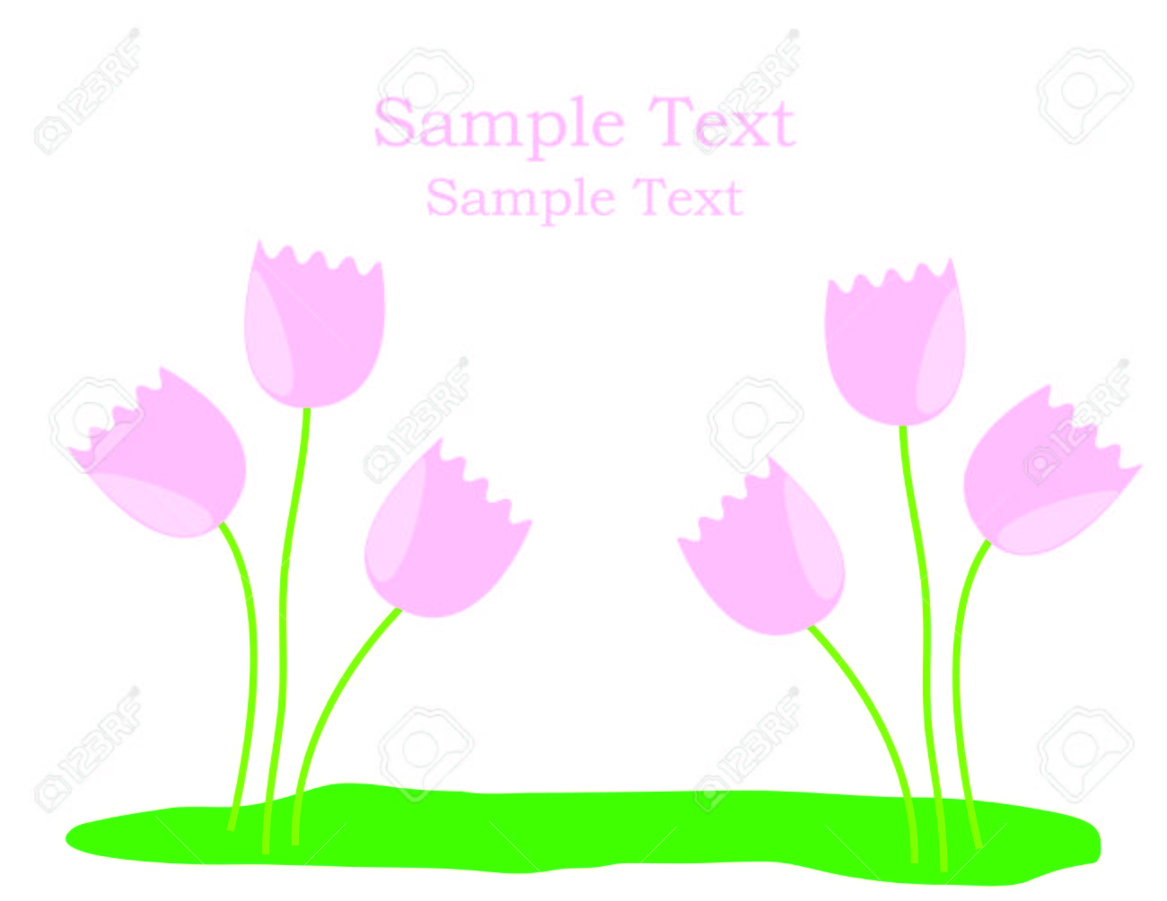 Floral vector greeting card with space for your text Stock Vector - 6789165