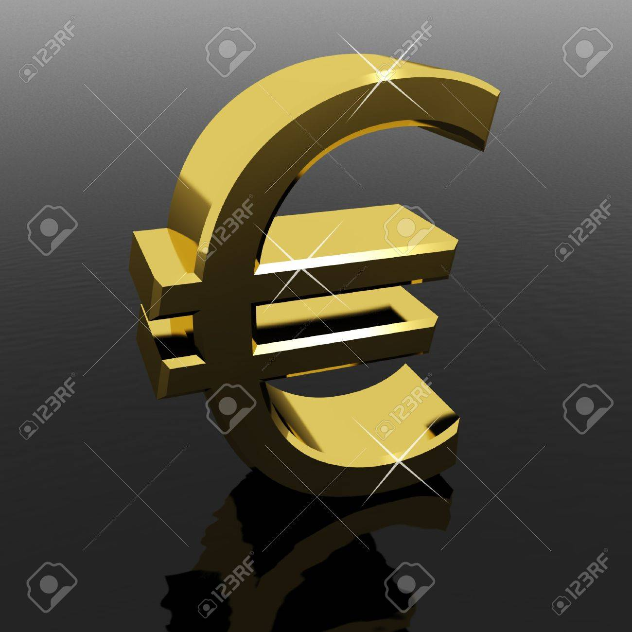 Gold Euro Sign As Symbol For Money Or Wealth Stock Photo - 11725335