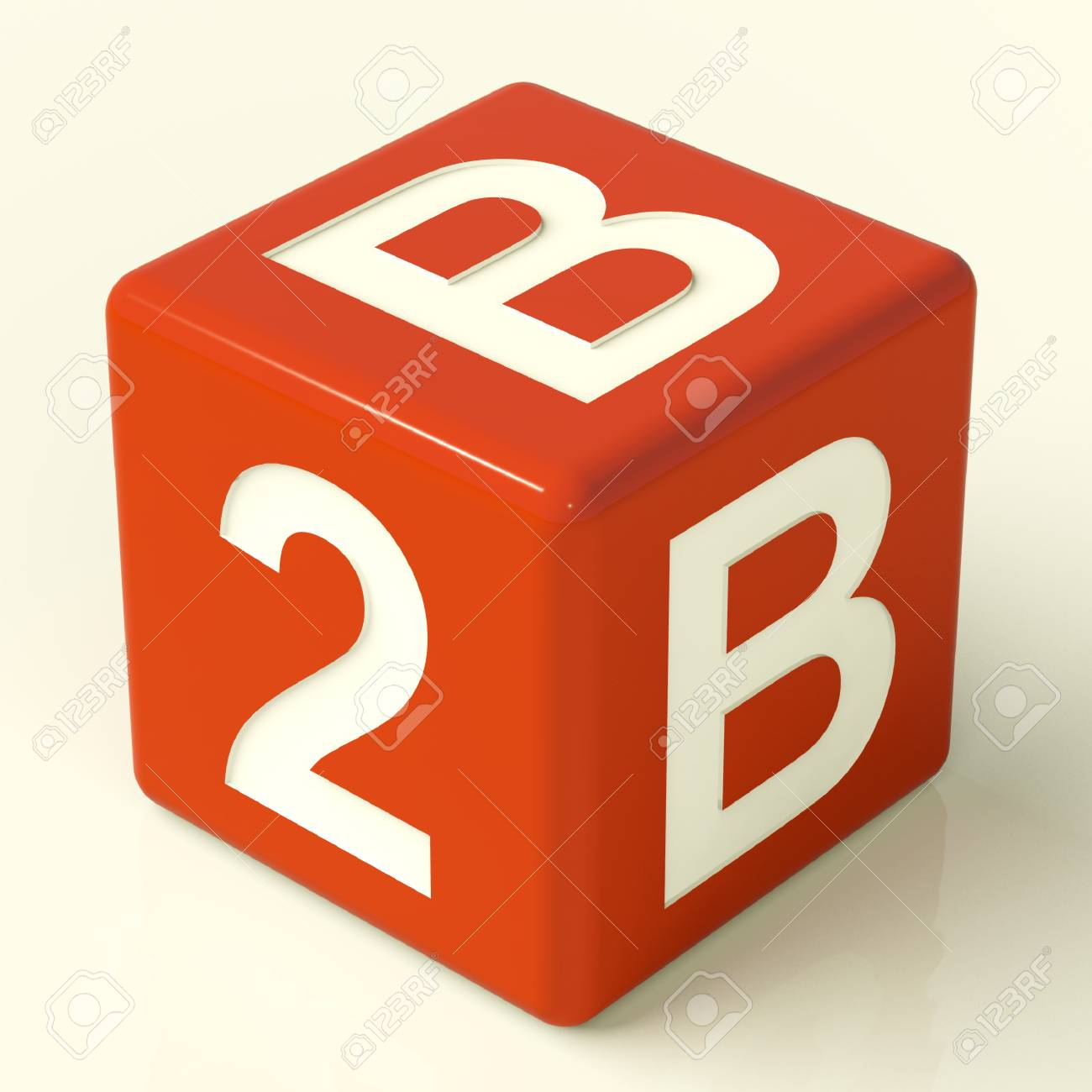 B2b Red Dice As A Sign Of Business And Partnership Stock Photo - 11725370