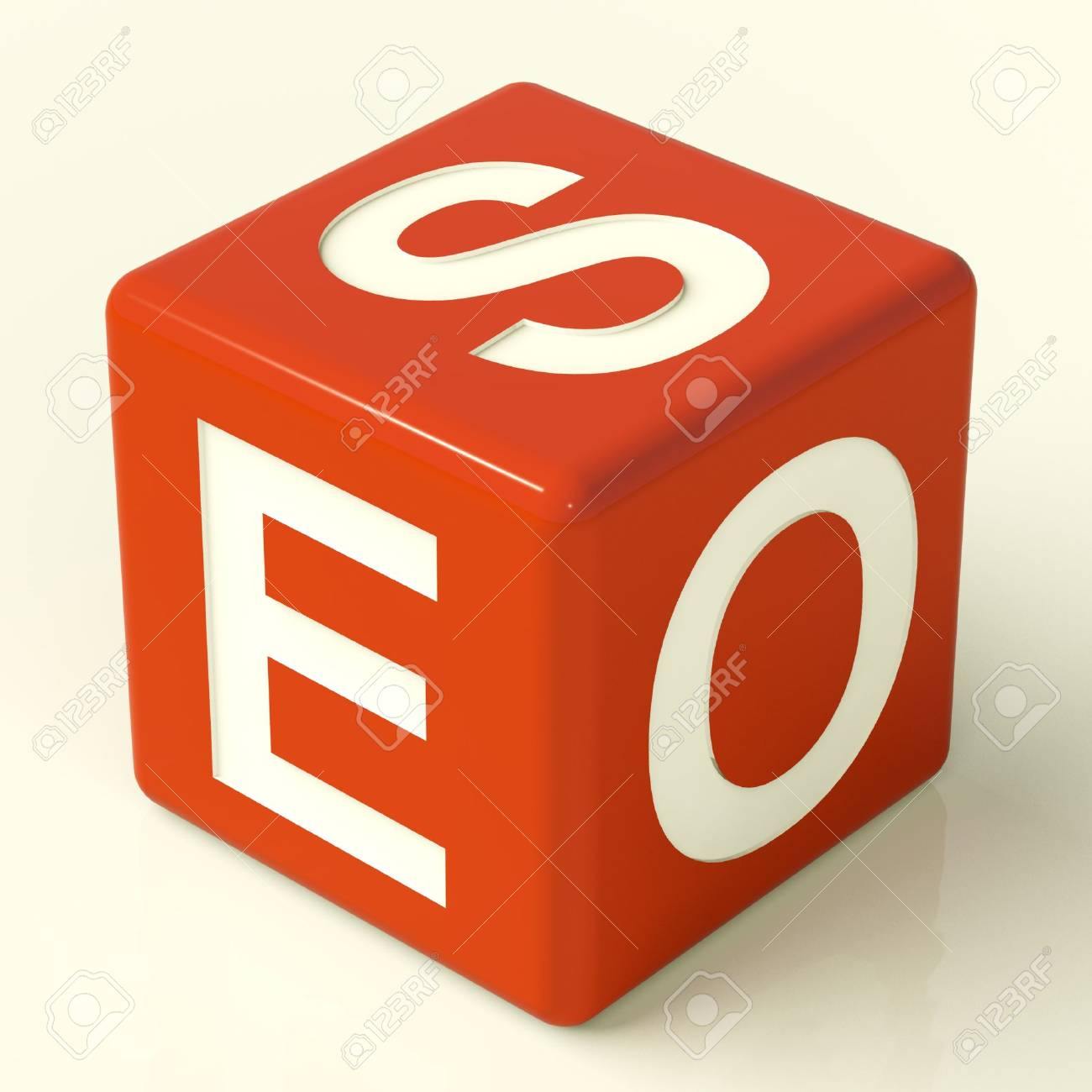 Seo Red Dice Representing Internet Optimization And Promotion Stock Photo - 11725369