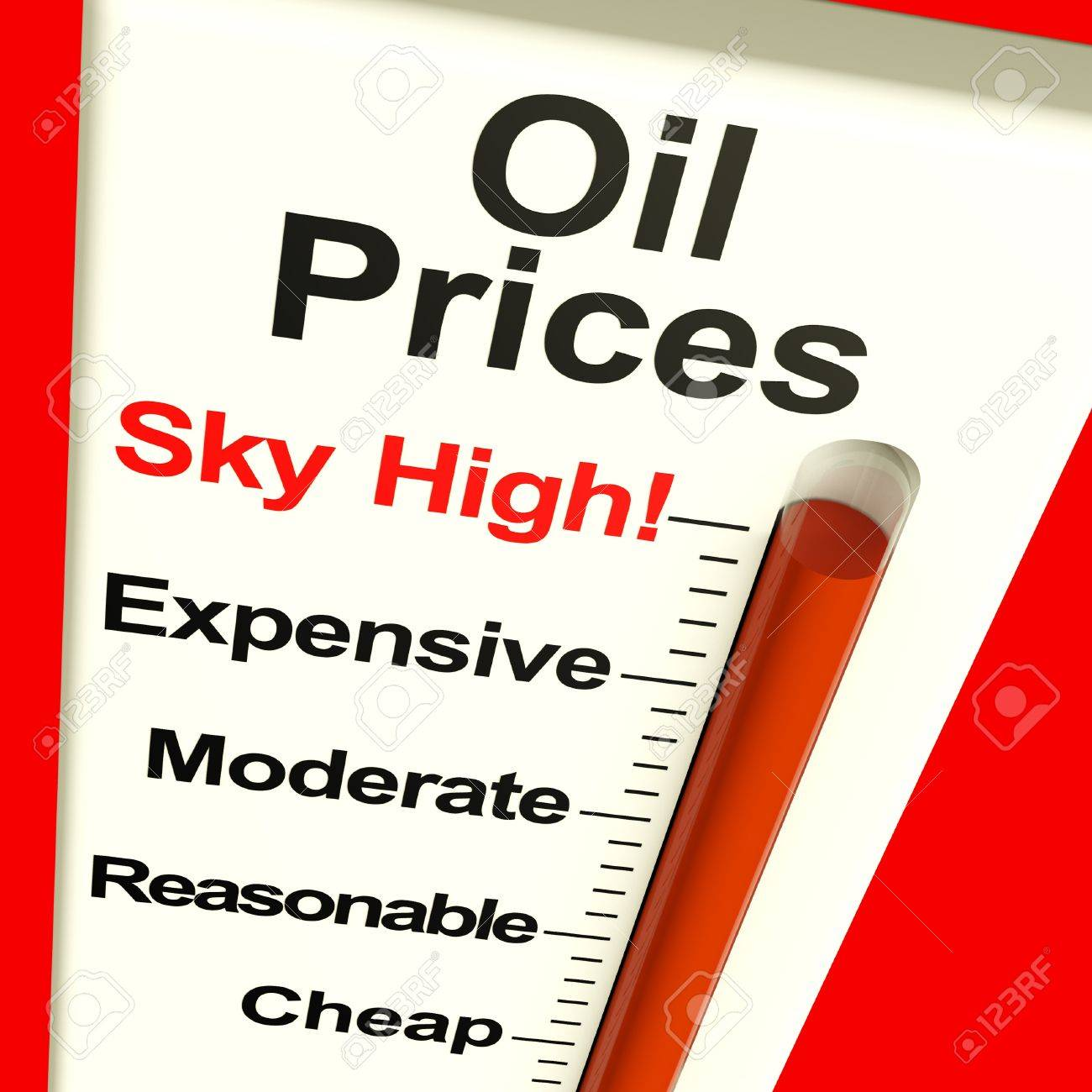 Oil Prices High Monitor Showing Expensive Fuel Cost Stock Photo - 11947985