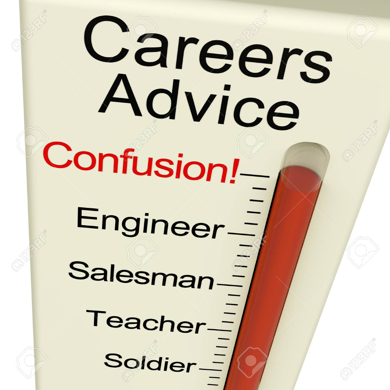 Careers Advice Meter Confusion Shows Employment Guidance And Decisions Stock Photo - 11948066