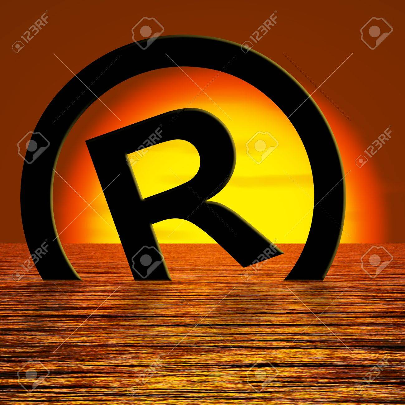 Registered Symbol Sinking Meaning Piracy Or Infringements Stock