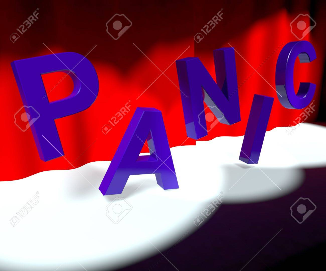 Panic Word On Stage As Symbol for Emergency Or Stress Stock Photo - 13482148
