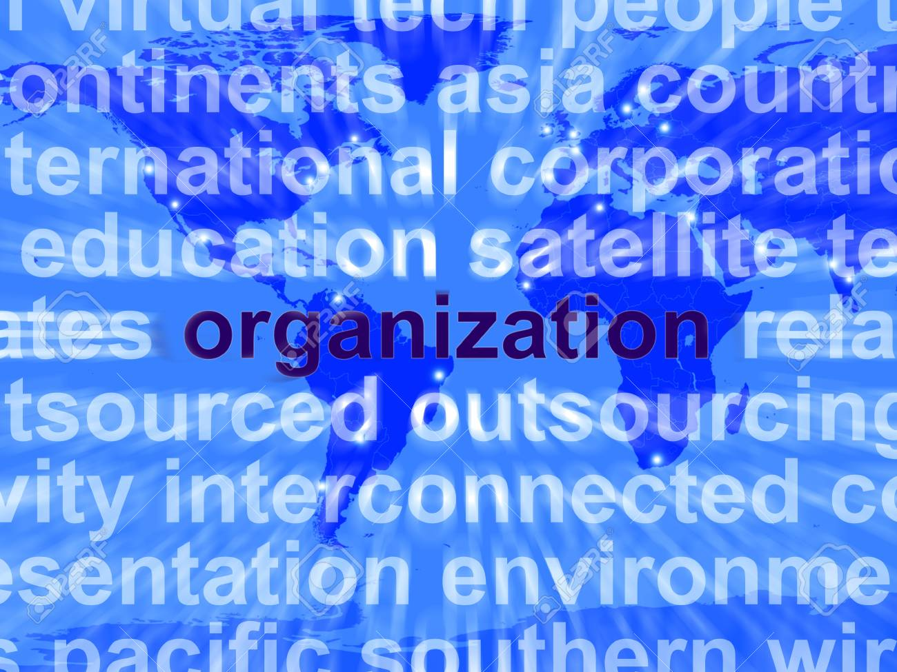 Word Organzation Showing Business Company And Management Stock Photo - 13480571