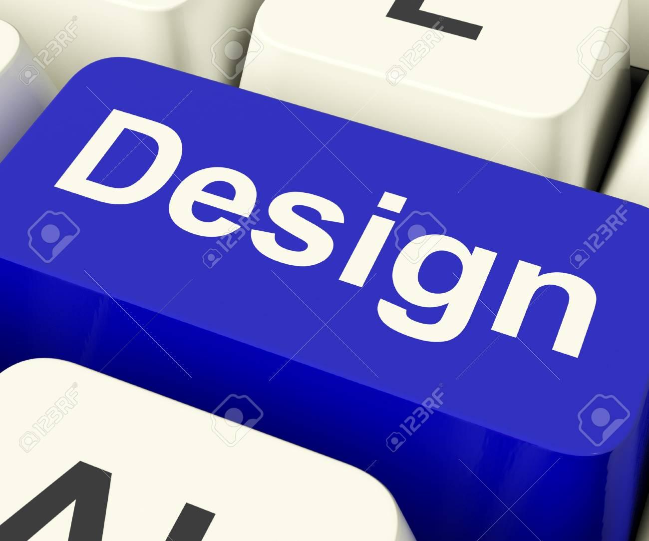 Clave Diseño De La Computadora En Línea Significa Obra De Arte ...