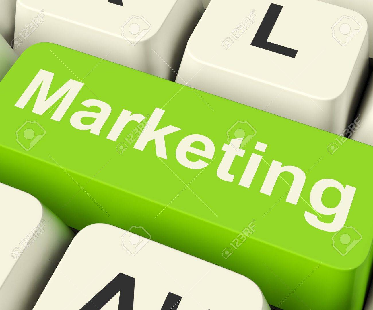 Online Marketing Key Can Be Blogs Websites Social Media Or Email Lists Stock Photo - 13481382