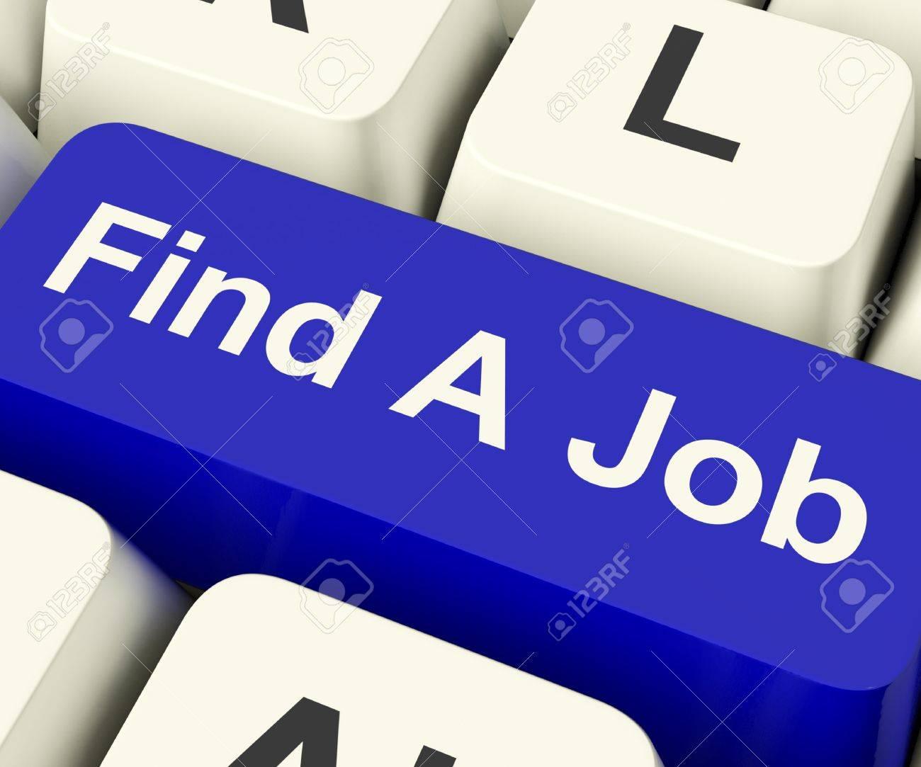 Buscar Una Tecla De Computadora De Trabajo Muestra El Trabajo Y La ...