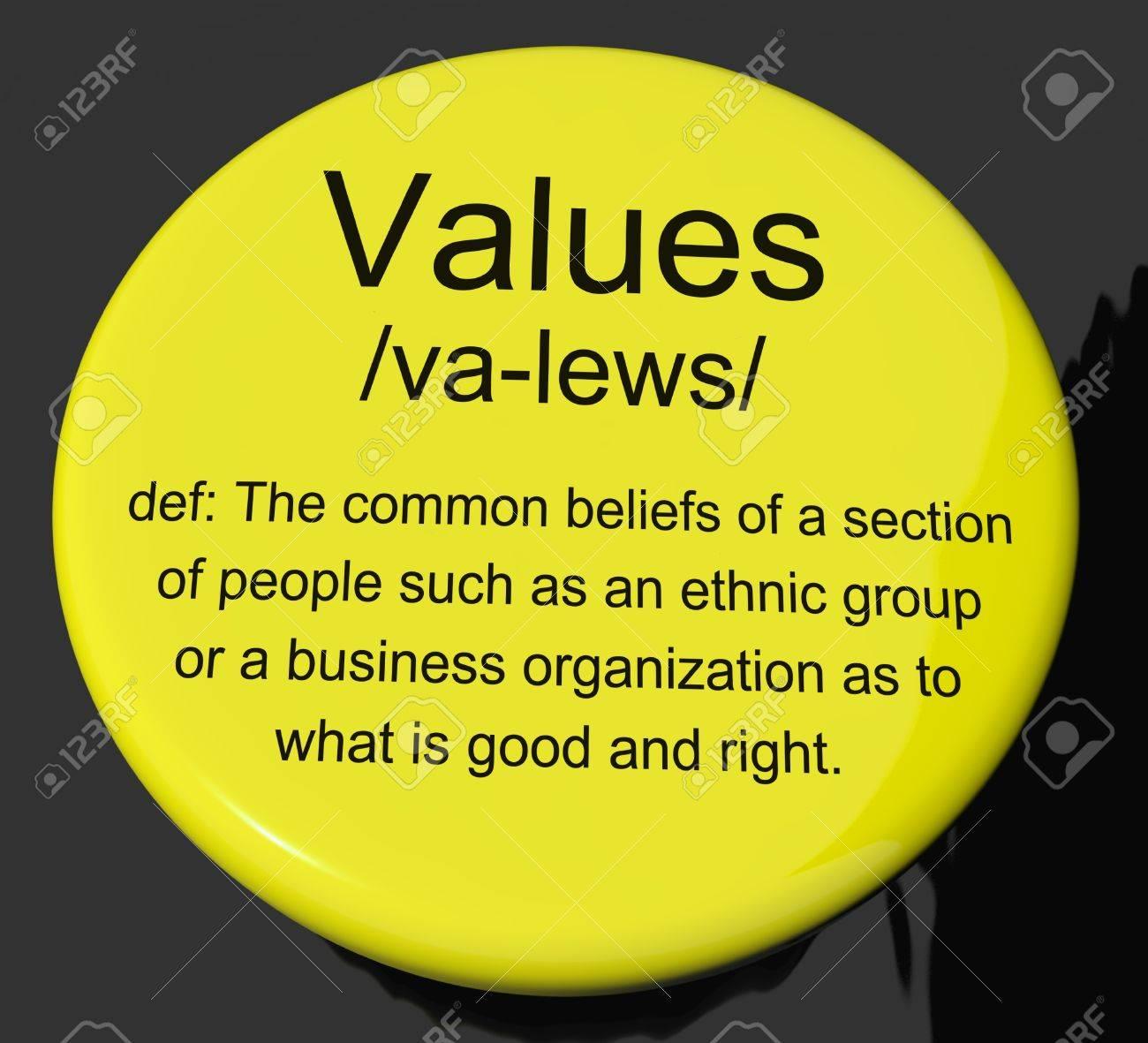 values definition psychology