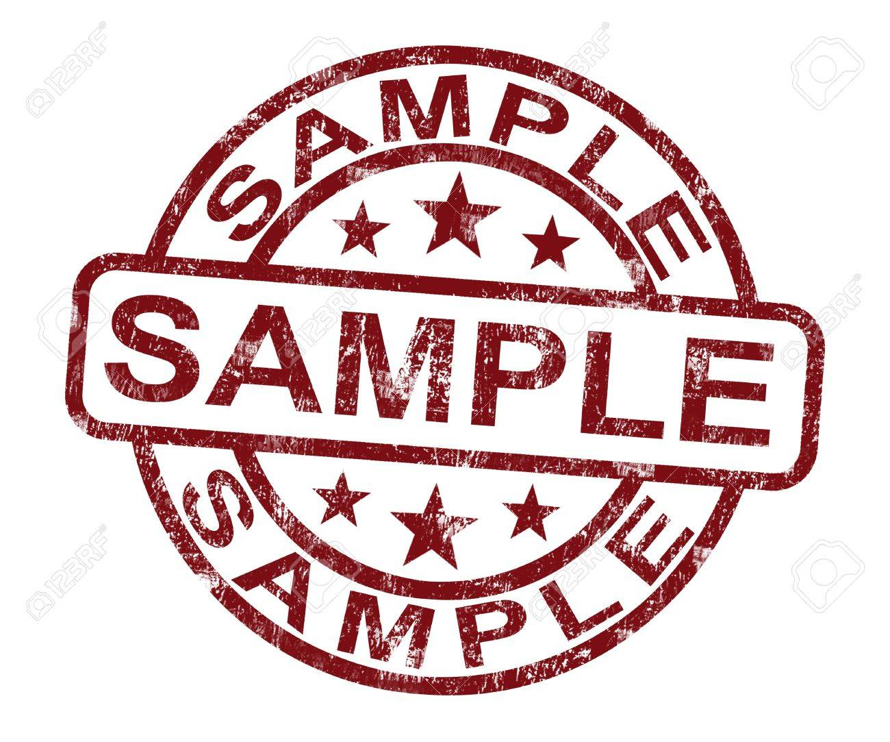 sample stamp showing example symbol or taste stock photo picture