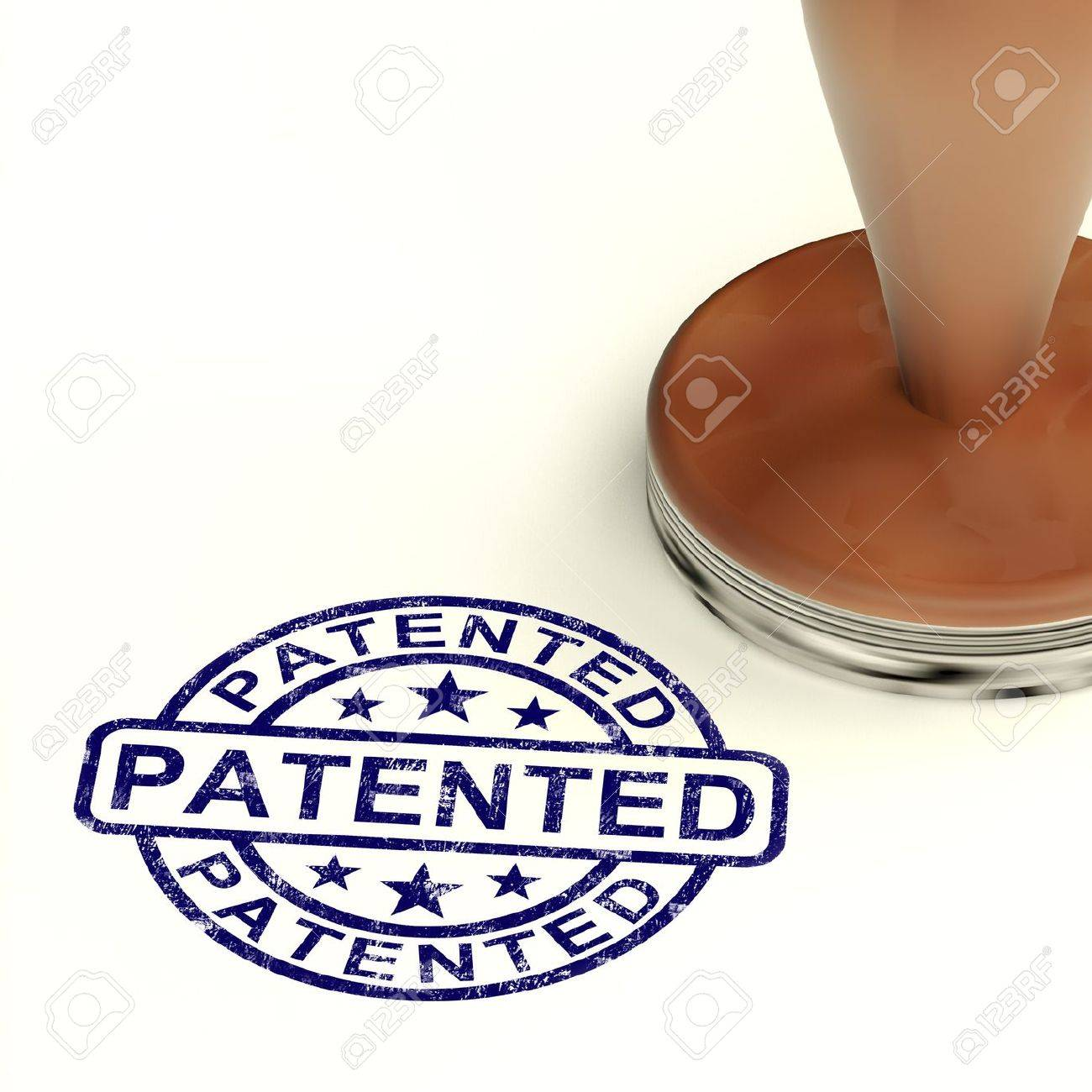Patented Stamp Showing Registered Patent Or Trademark Stock Photo - 13965420