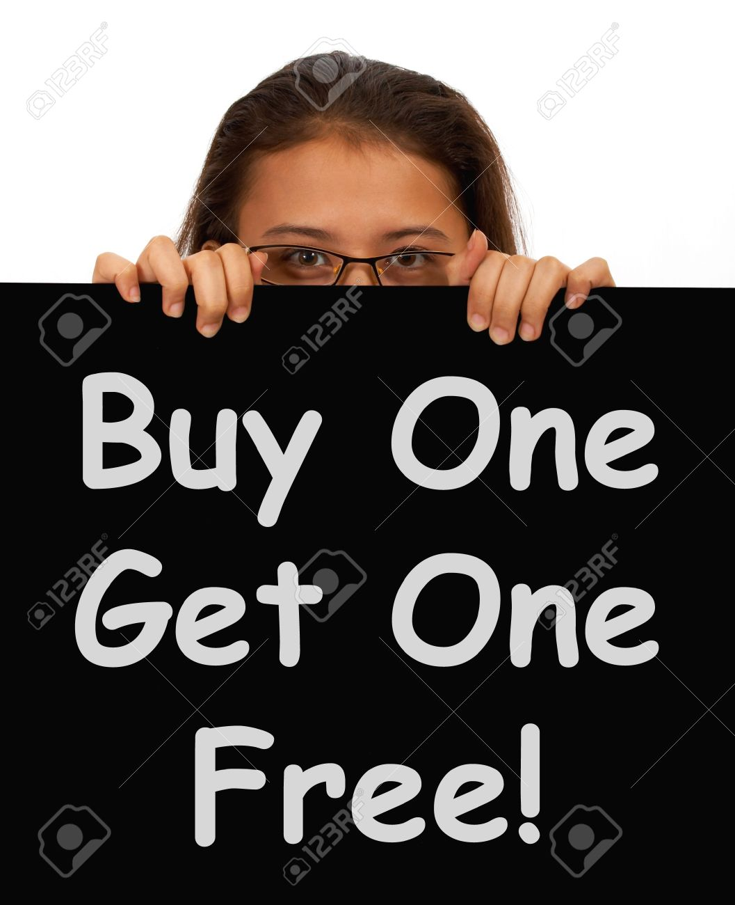 Buy One Get 1 Free Sign Shows Discounts Or Reductions Stock Photo - 14027210