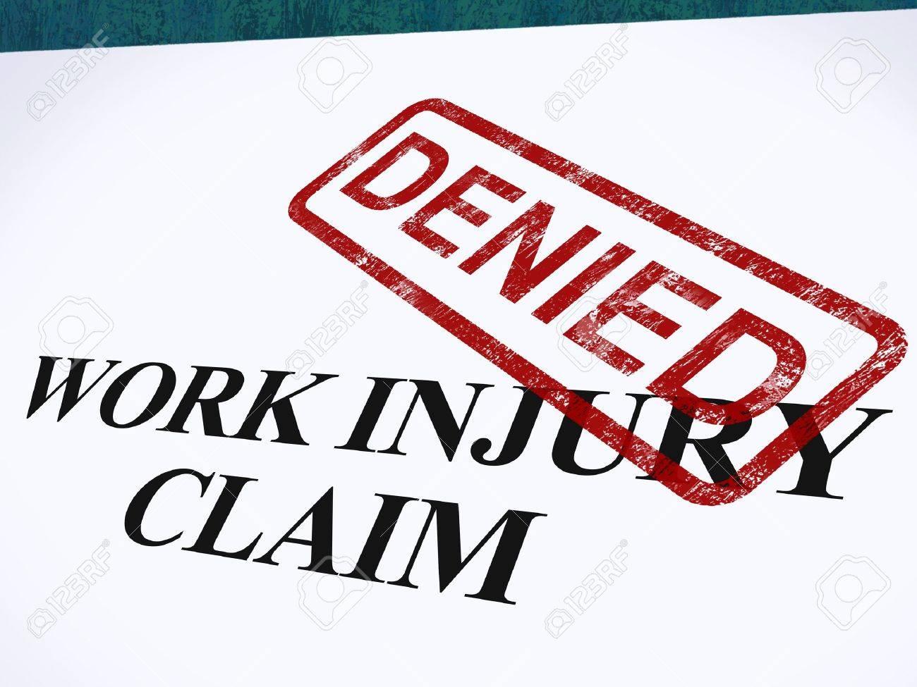 Work Injury Claim Denied Showing Medical Expenses Refused Stock Photo - 14055036