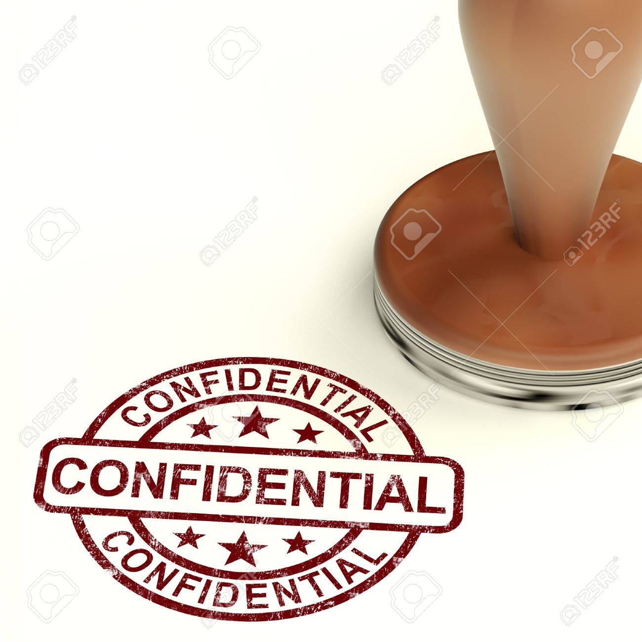 Confidential Stamp Shows Private Correspondence Or Documents Stock Photo - 14081053