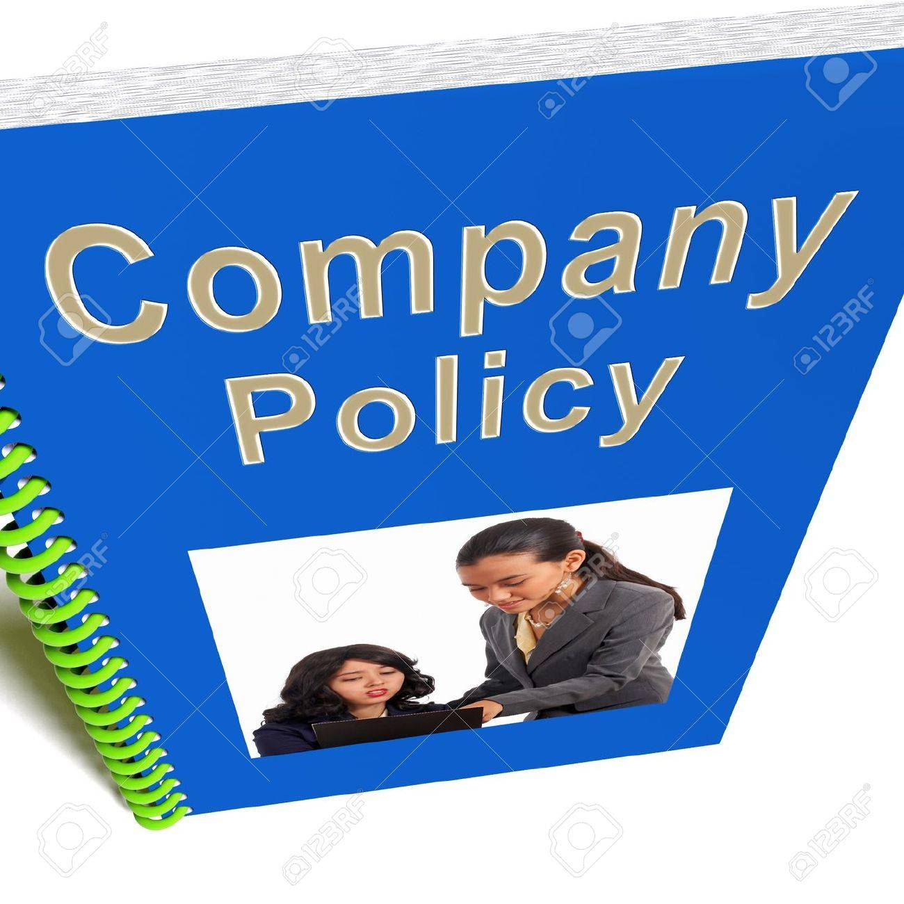 Company Policy Book Showing Rules For Employees Photo – Company Policy
