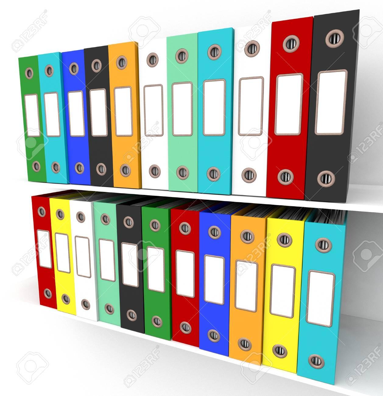Estantes Para Archivos Oficina.Los Estantes De Los Archivos Para Conseguir La Oficina Organizo