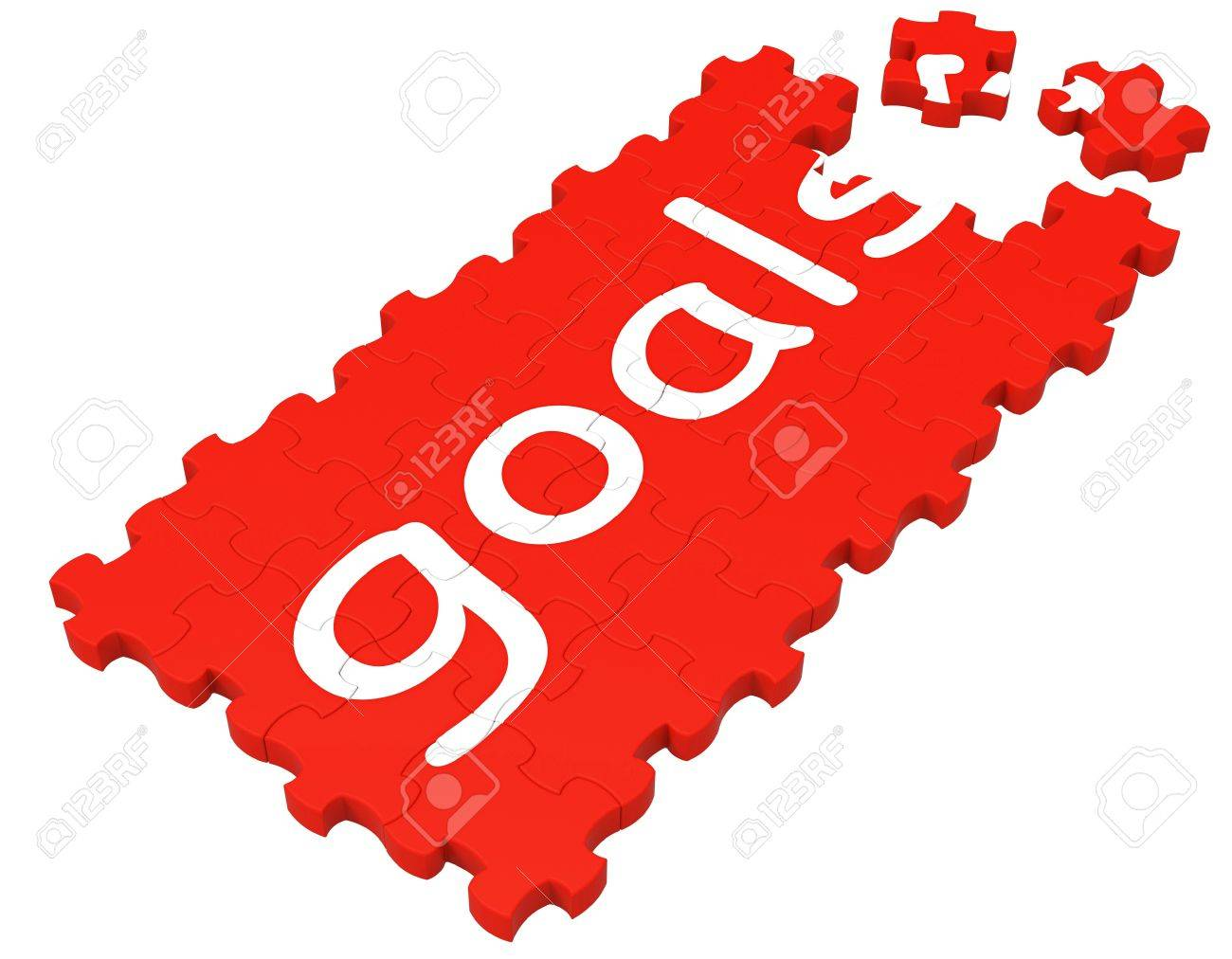 goals puzzle shows aspirations objectives and ambitions stock goals puzzle shows aspirations objectives and ambitions stock photo 16517679