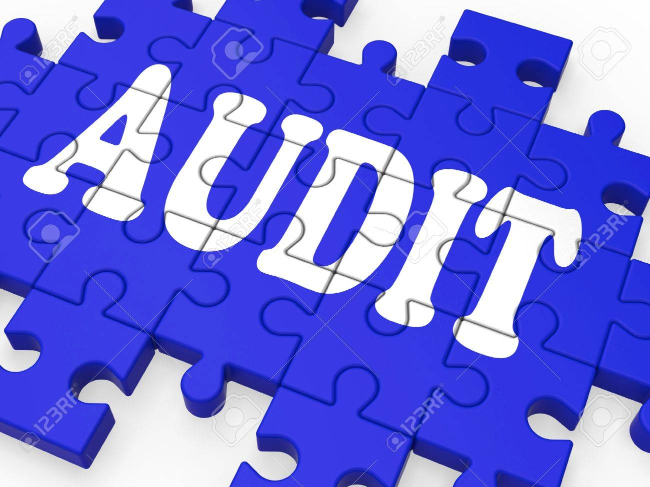 audit puzzle showing auditor inspections and auditing stock photo