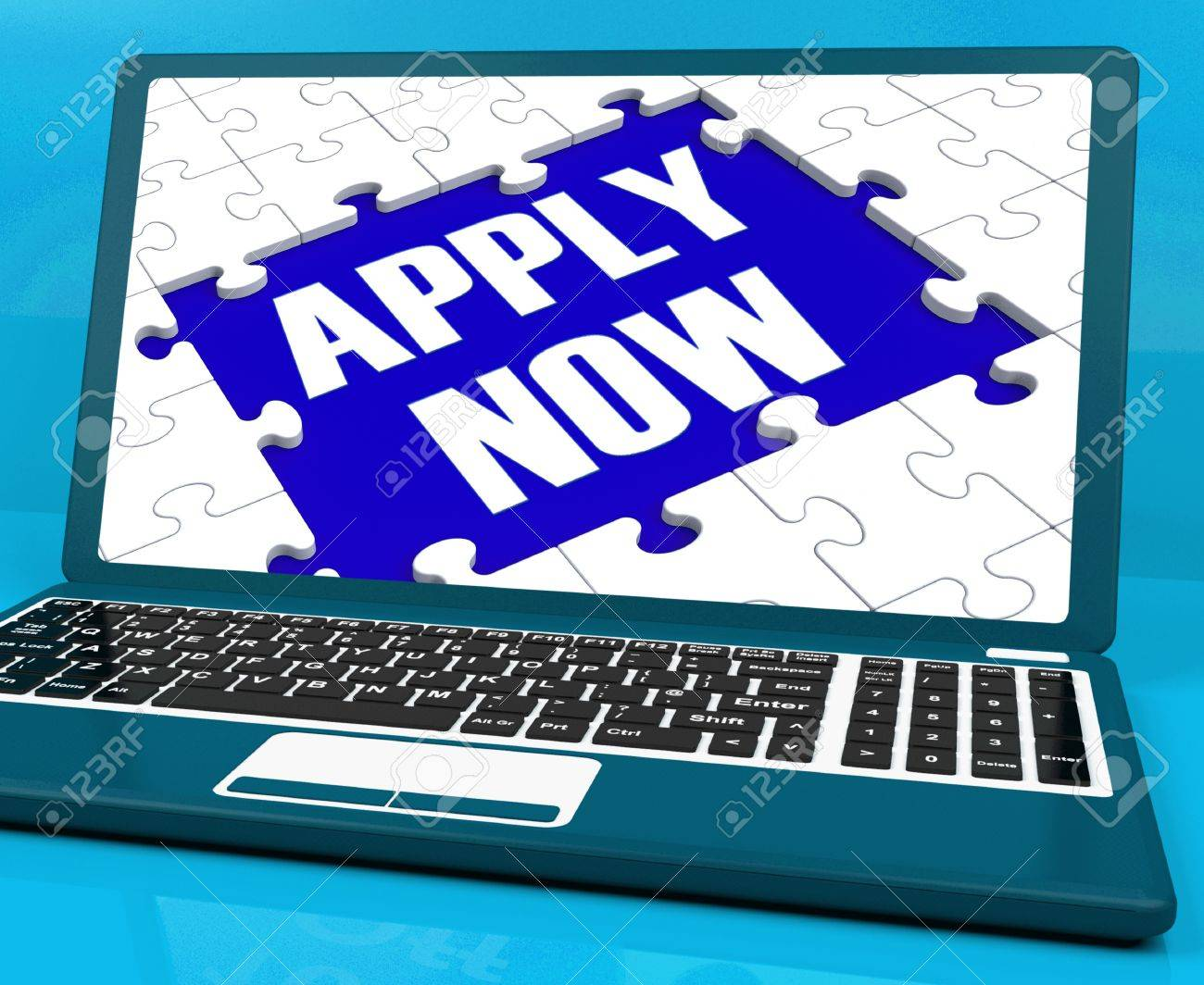 apply now on laptop showing online applications and job apply now on laptop showing online applications and job recruitment stock photo 16936720