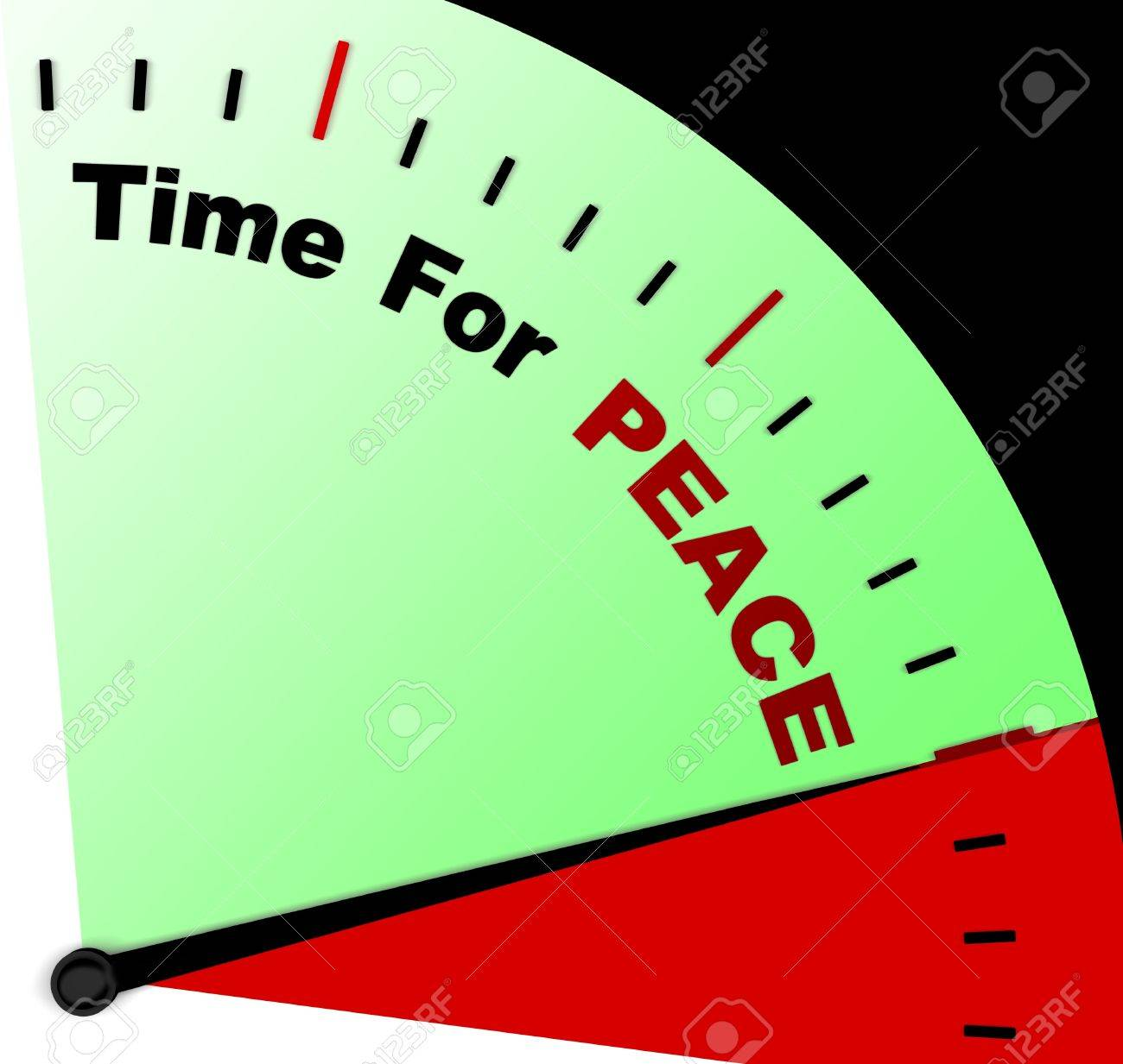 Time For Peace Message Meaning Anti War And Peaceful Stock Photo - 18039265