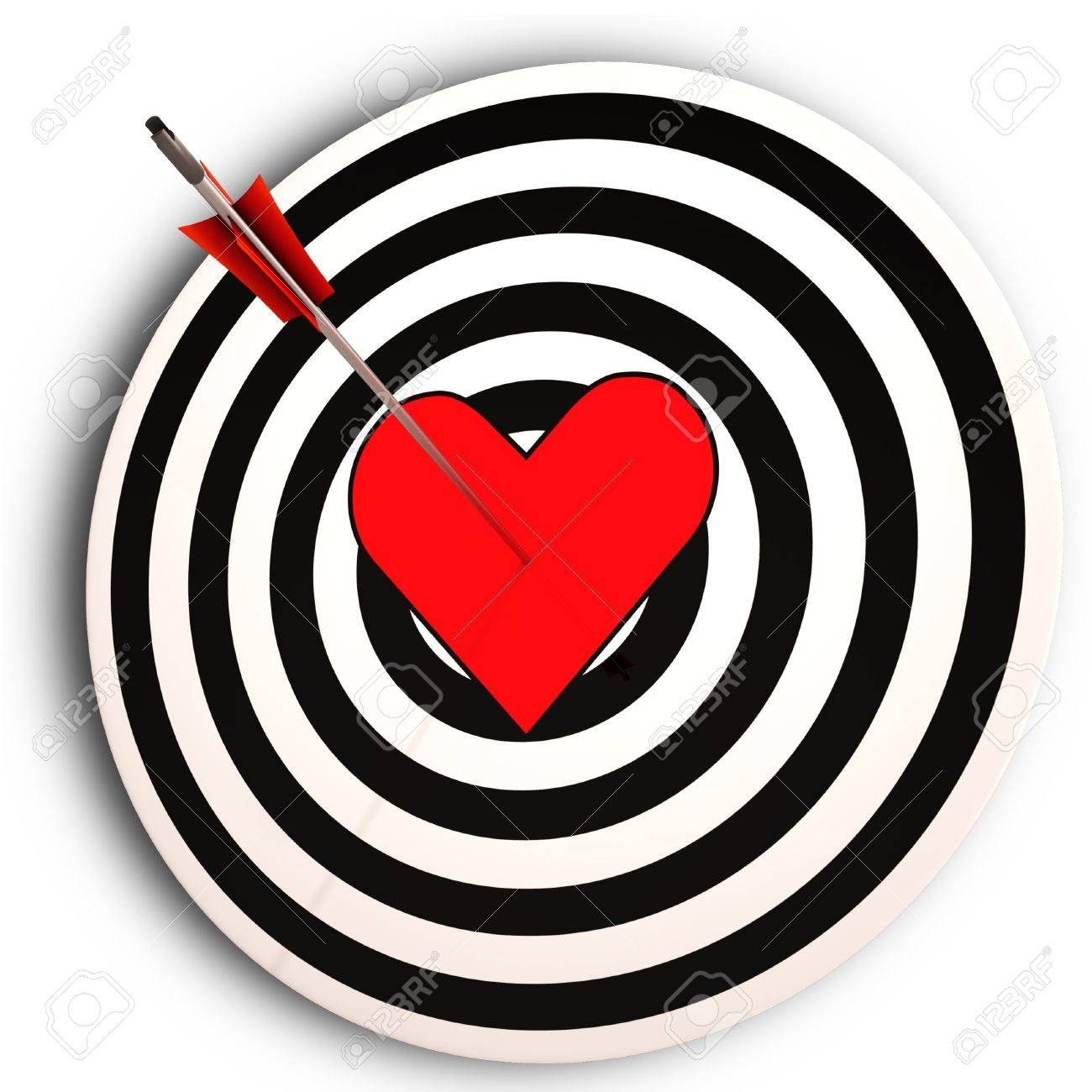 Heart Target Meaning I Love You Achieved